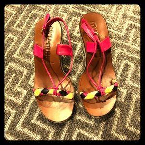 Miu Miu platform wedge sandal